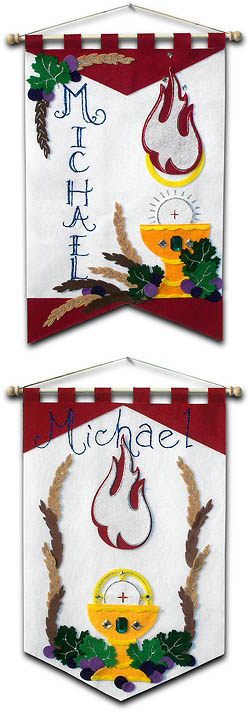 ~ DELUXE ~ - First Communion Banner Kit - 12 in. x 18 in. - <i>Holy Spirit</i>