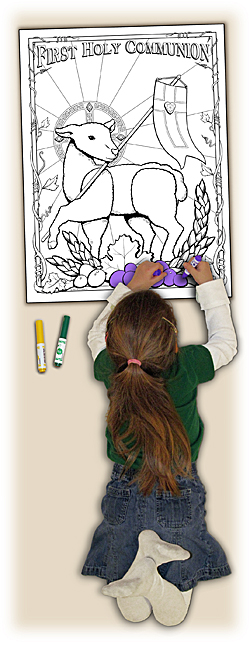 Catholic Coloring Poster - Lamb of God - Class Pack