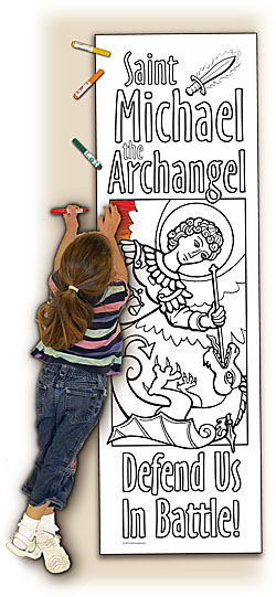Catholic Coloring Posters - Deluxe - St. Michael