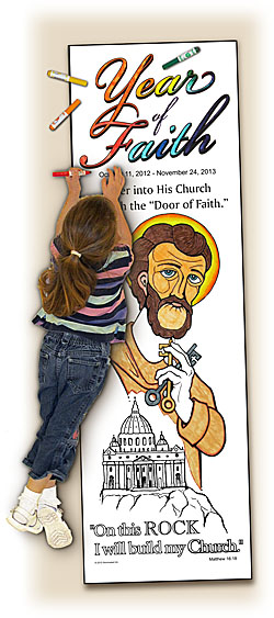 Catholic Coloring Posters - Deluxe - Year of Faith