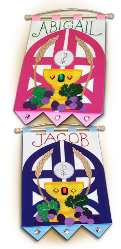 First Communion Banner Kit - Class Pack - 9 in. x 12 in. - <i>Gates of Heaven</i>