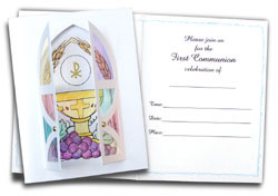 First Communion Card Kit Invitations - 10 pack