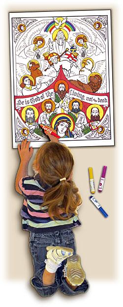 Sacred Seasons Coloring Poster - All Saints