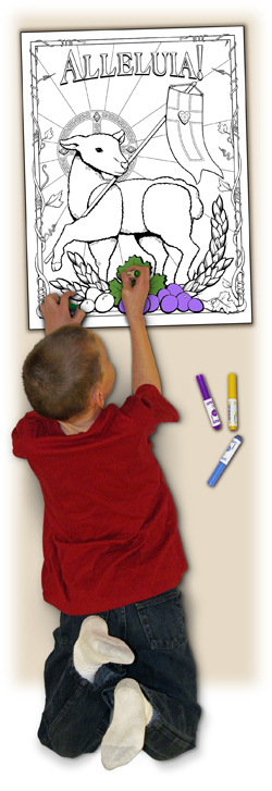 Sacred Seasons Coloring Poster - Alleluia