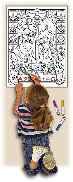 Sacred Seasons Coloring Poster - Communion of Saints
