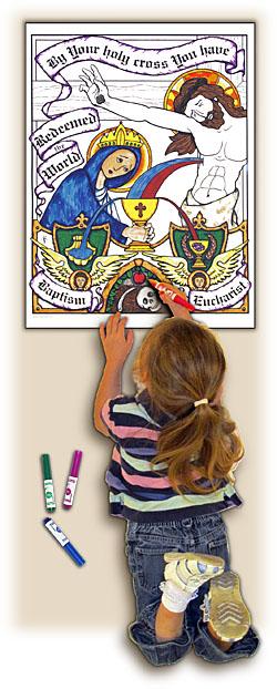 Sacred Seasons Coloring Poster - Lent