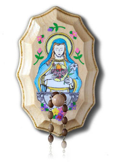 Wooden Rosary Holder Kit - Immaculate Heart of Mary