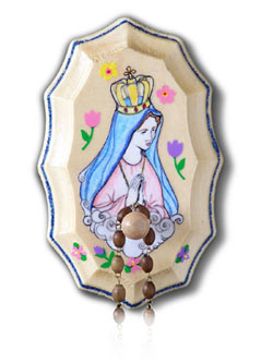 Wooden Rosary Holder Kit - Our Lady of Fatima