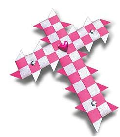 Woven Cross Kit - Pink